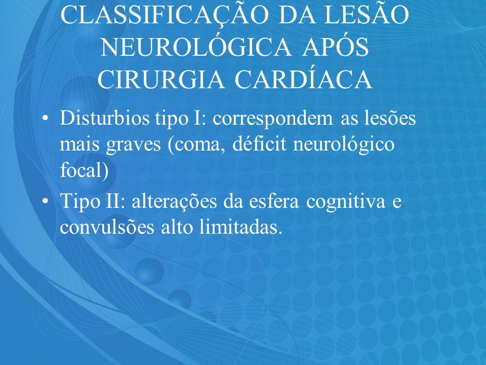 CLASSIFICAÇÃO DA LESÃO NEUROLÓGICA APÓS CIRURGIA CARDÍACA