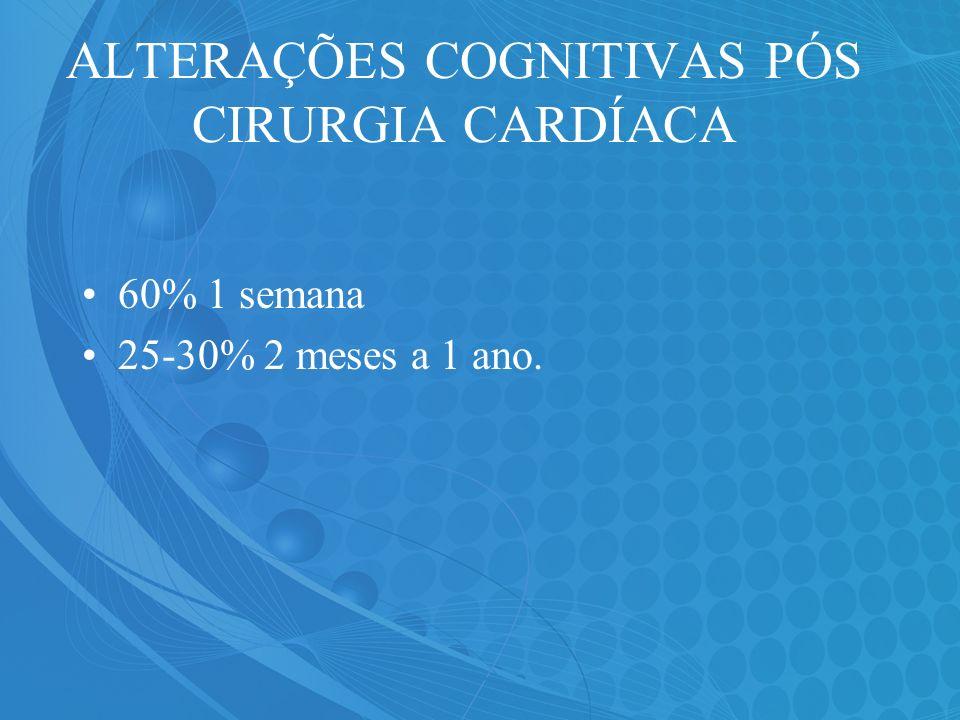 ALTERAÇÕES COGNITIVAS PÓS CIRURGIA CARDÍACA