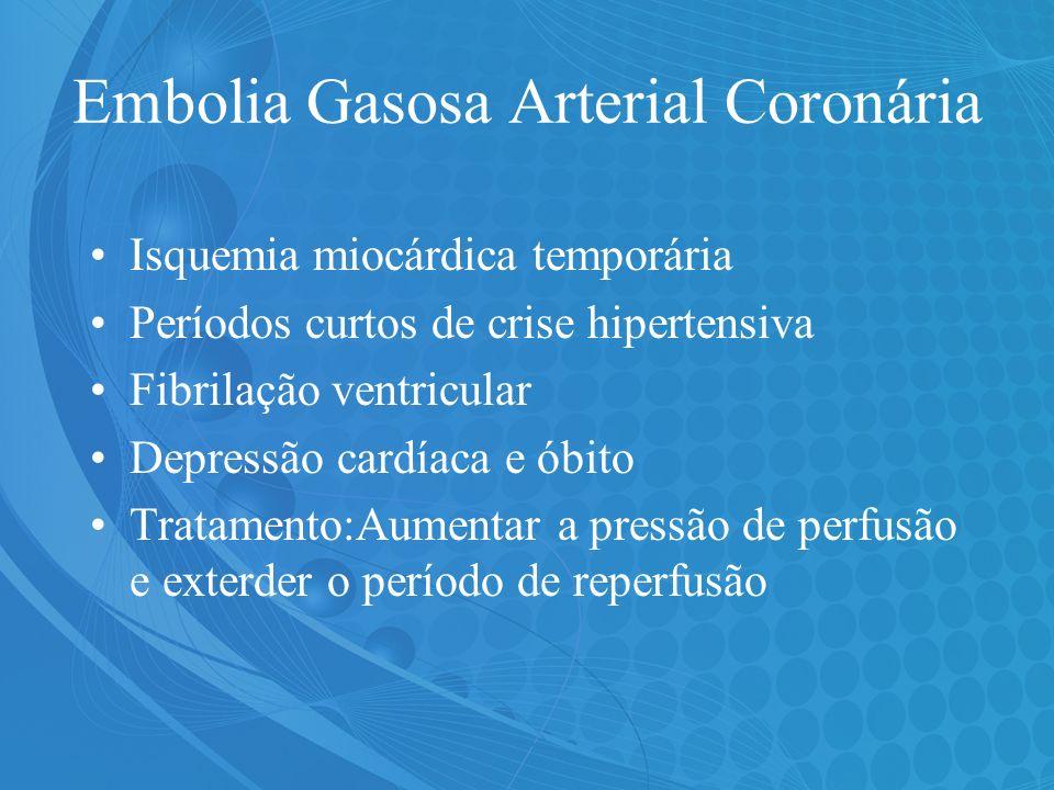 Embolia Gasosa Arterial Coronária