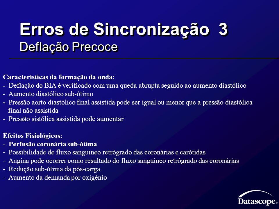 Erros de Sincronização 3 Deflação Precoce