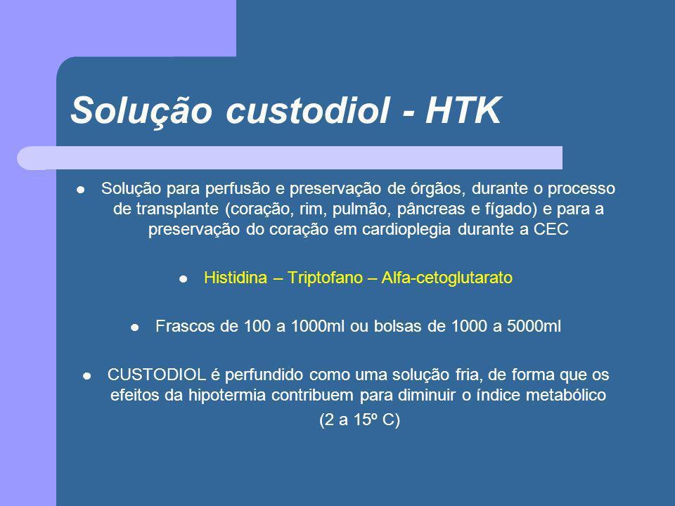 Solução custodiol - HTK