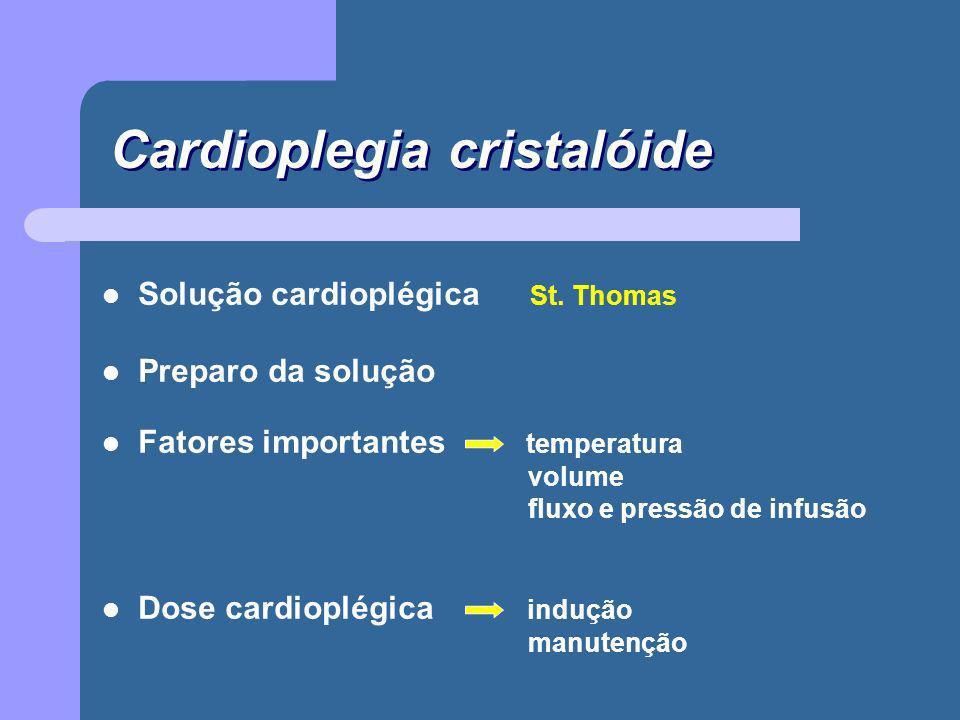 Cardioplegia cristalóide