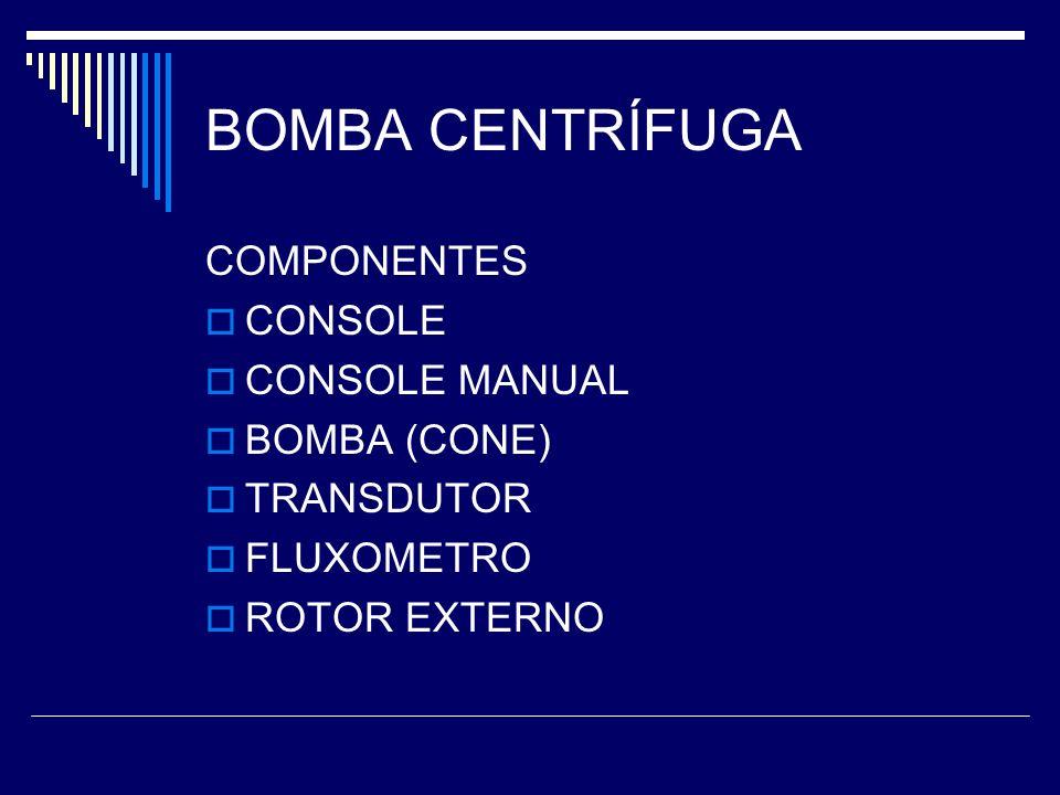 BOMBA CENTRÍFUGA COMPONENTES CONSOLE CONSOLE MANUAL BOMBA (CONE)