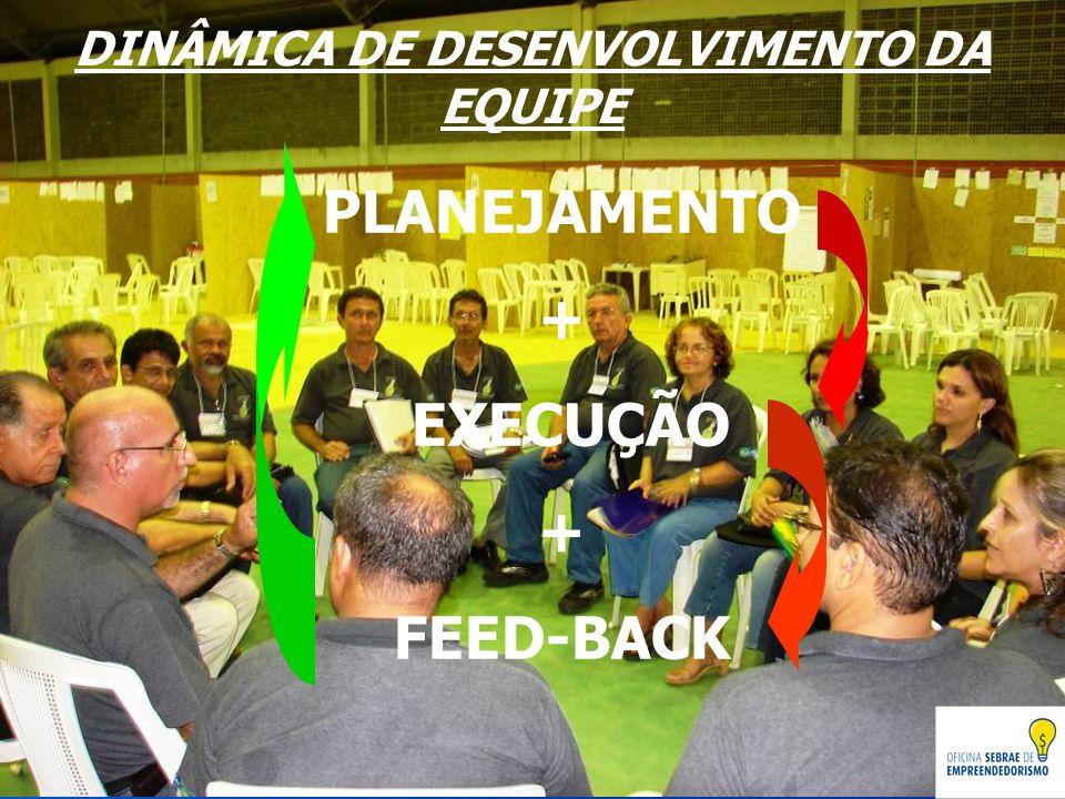 DINÂMICA DE DESENVOLVIMENTO DA EQUIPE