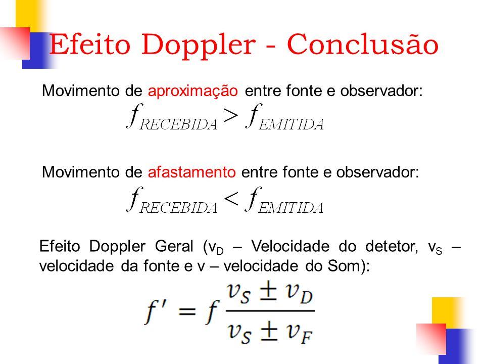 Efeito Doppler - Conclusão