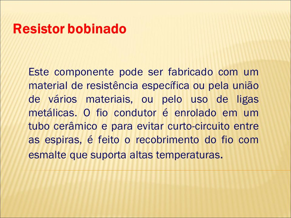 Resistor bobinado