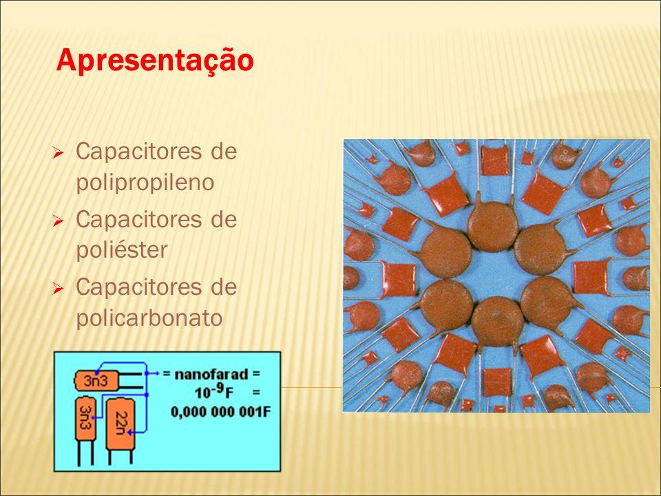 Apresentação Capacitores de polipropileno Capacitores de poliéster