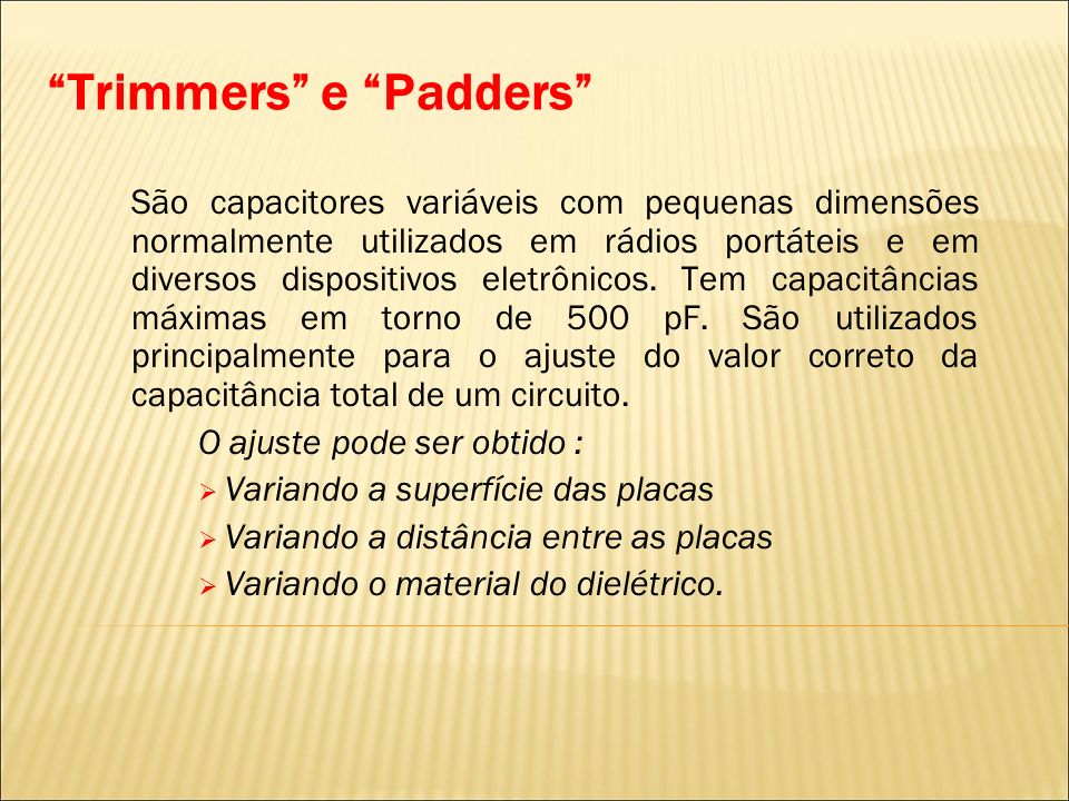 Trimmers e Padders