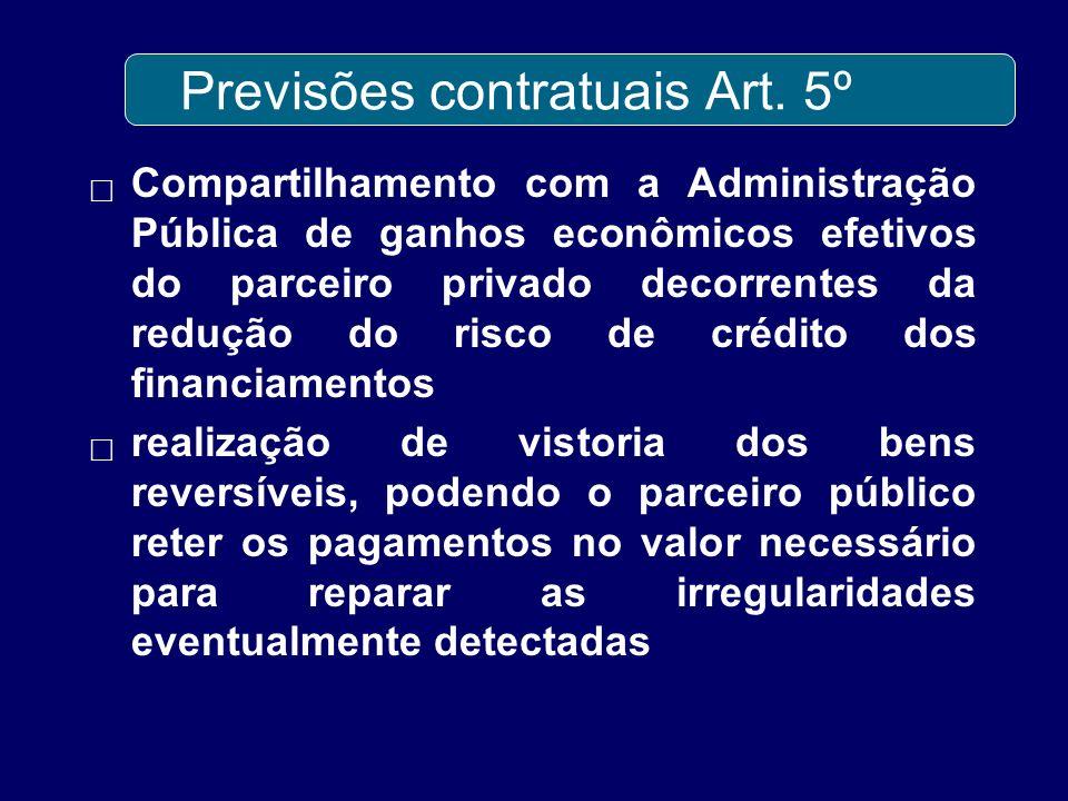 Previsões contratuais Art. 5º