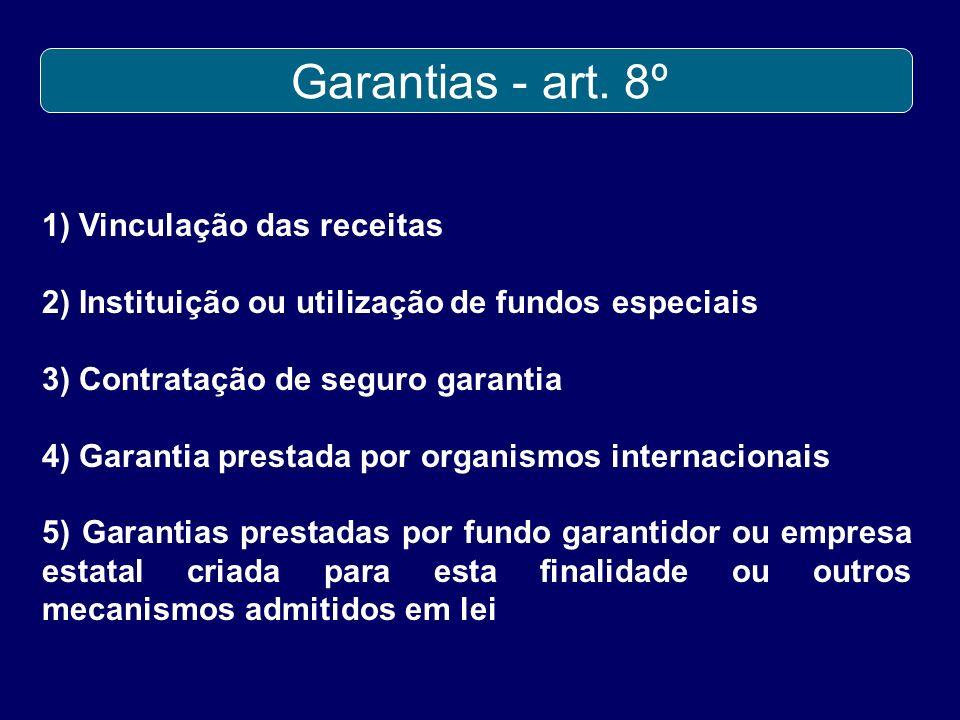 Garantias - art. 8º 1) Vinculação das receitas
