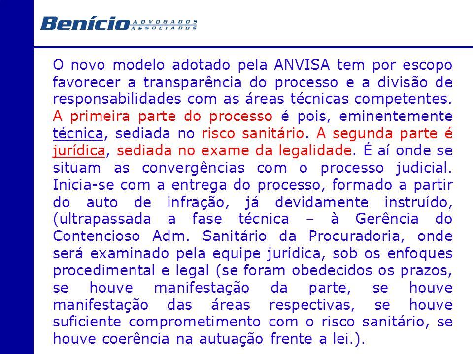 O novo modelo adotado pela ANVISA tem por escopo favorecer a transparência do processo e a divisão de responsabilidades com as áreas técnicas competentes.