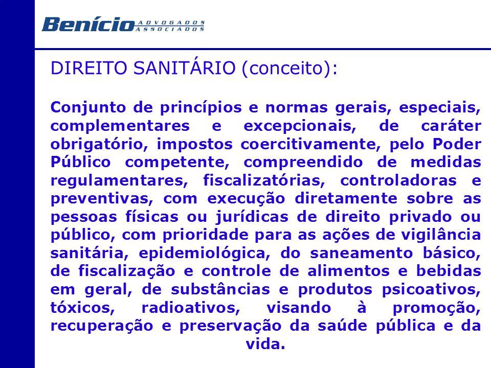 DIREITO SANITÁRIO (conceito):