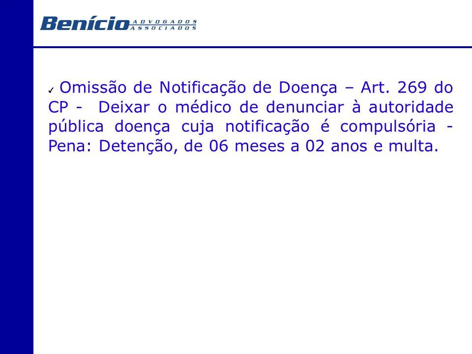 Omissão de Notificação de Doença – Art