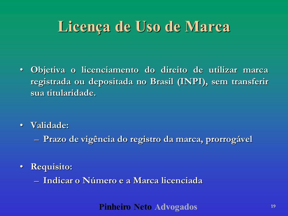 Licença de Uso de Marca