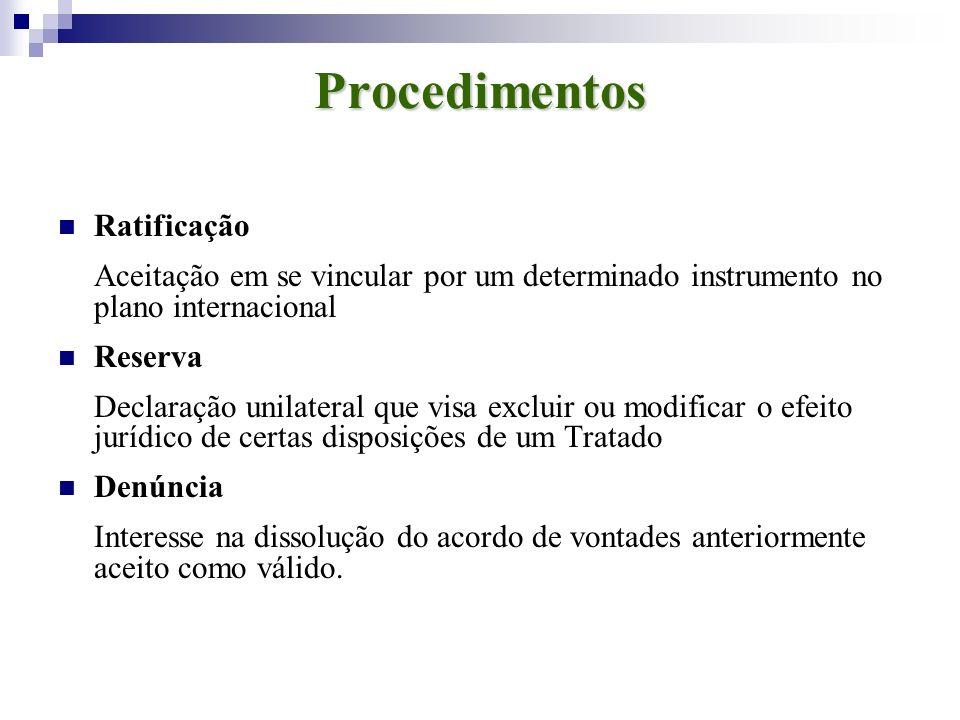 Procedimentos Ratificação