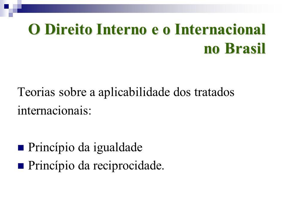 O Direito Interno e o Internacional no Brasil
