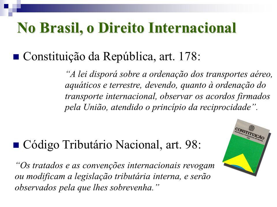No Brasil, o Direito Internacional