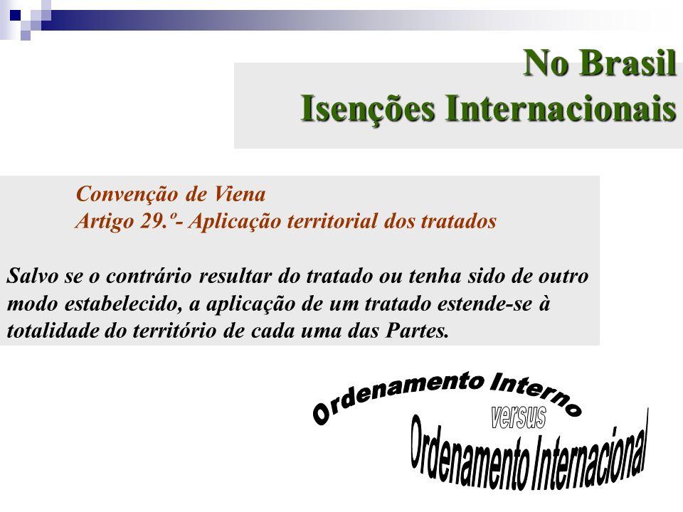 No Brasil Isenções Internacionais