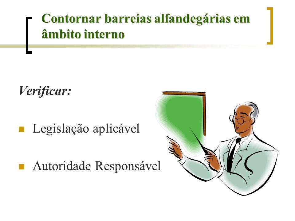 Contornar barreias alfandegárias em âmbito interno