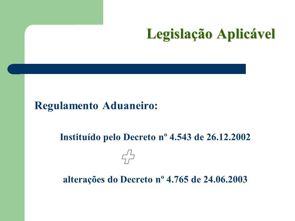 alterações do Decreto nº 4.765 de 24.06.2003
