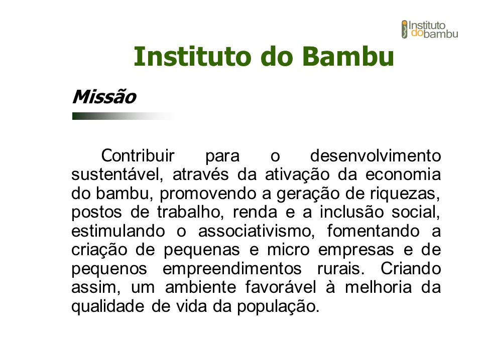 Instituto do Bambu Missão