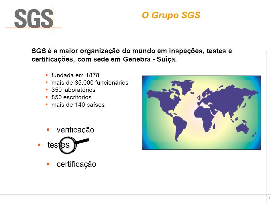 O Grupo SGS verificação testes certificação