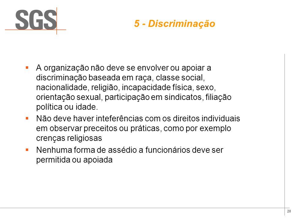 5 - Discriminação