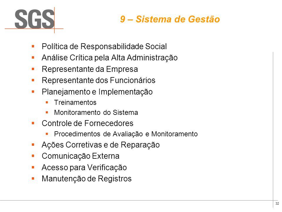 9 – Sistema de Gestão Política de Responsabilidade Social