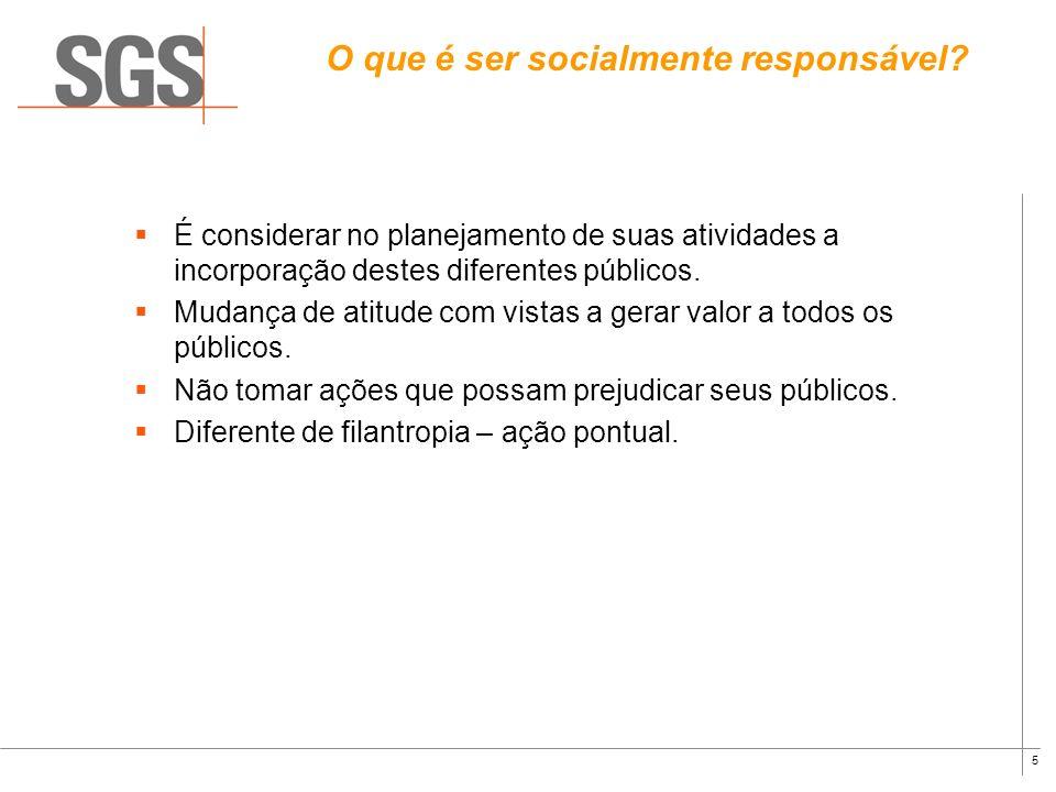 O que é ser socialmente responsável