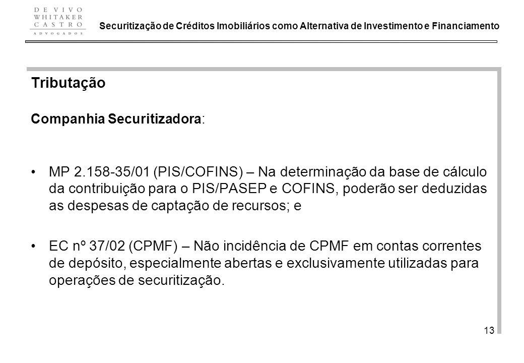 Securitização de Créditos Imobiliários como Alternativa de Investimento e Financiamento