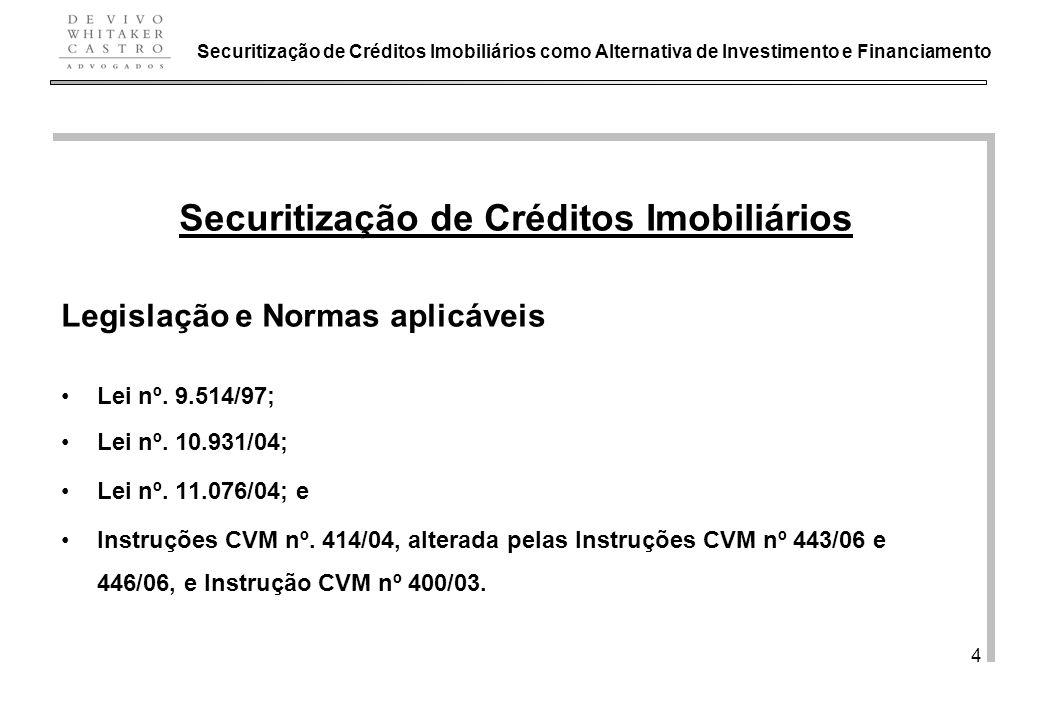 Securitização de Créditos Imobiliários