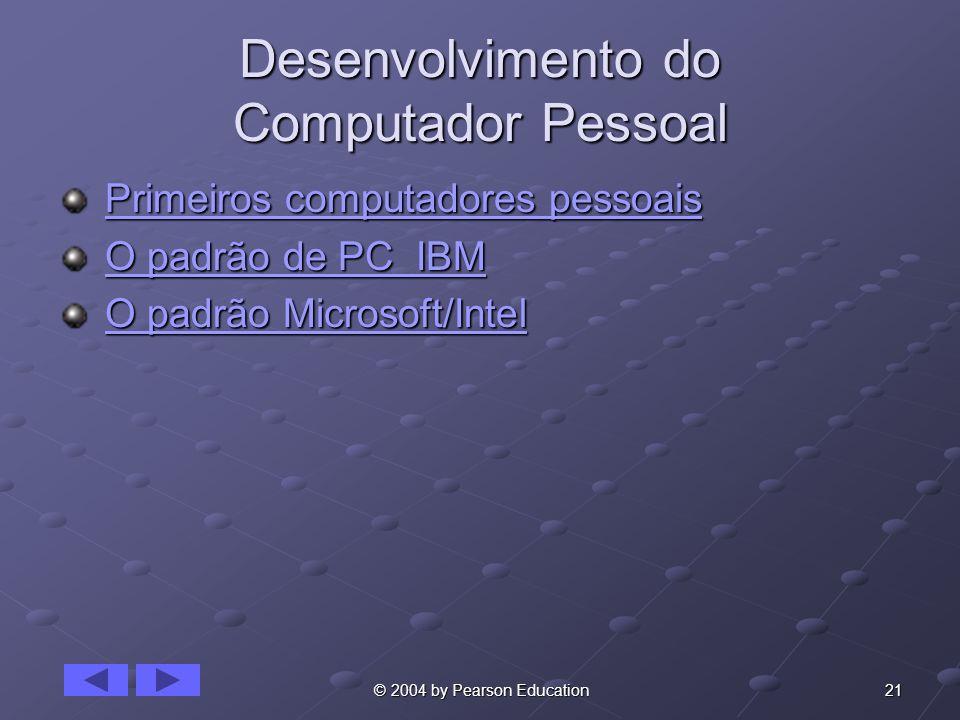 Desenvolvimento do Computador Pessoal