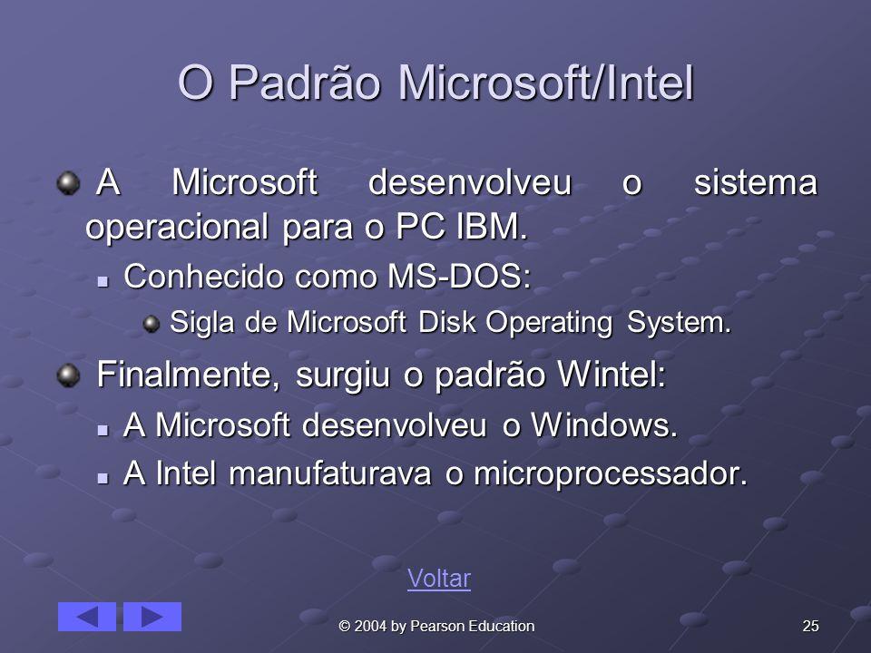 O Padrão Microsoft/Intel