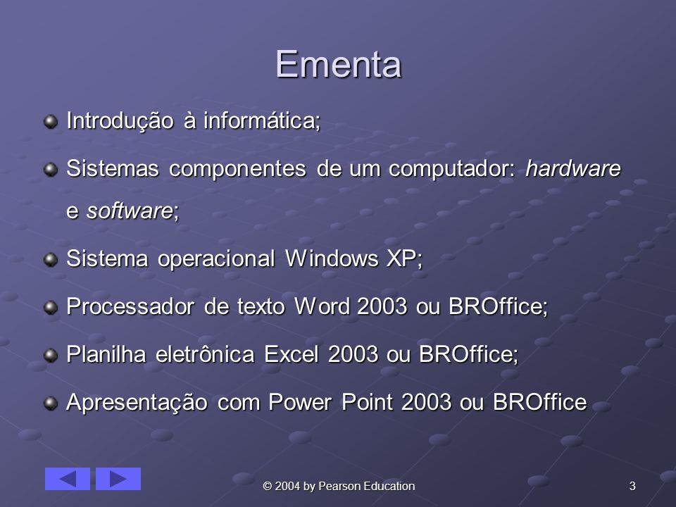 Ementa Introdução à informática;