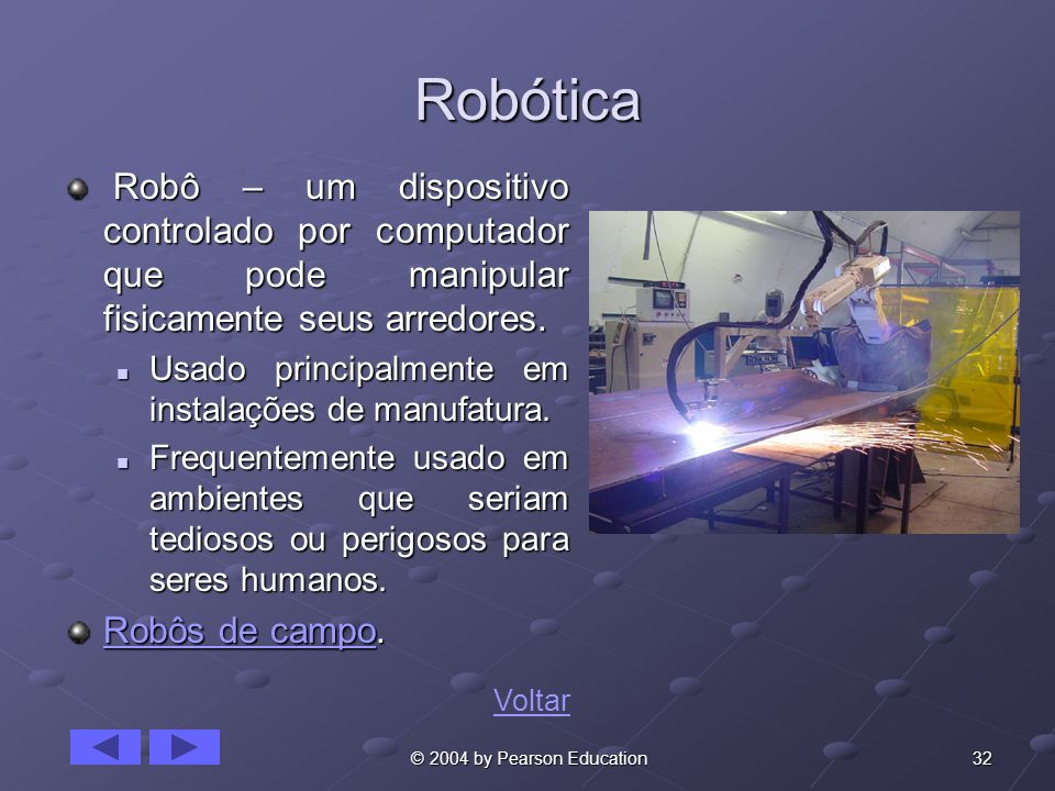 Robótica Robôs de campo.