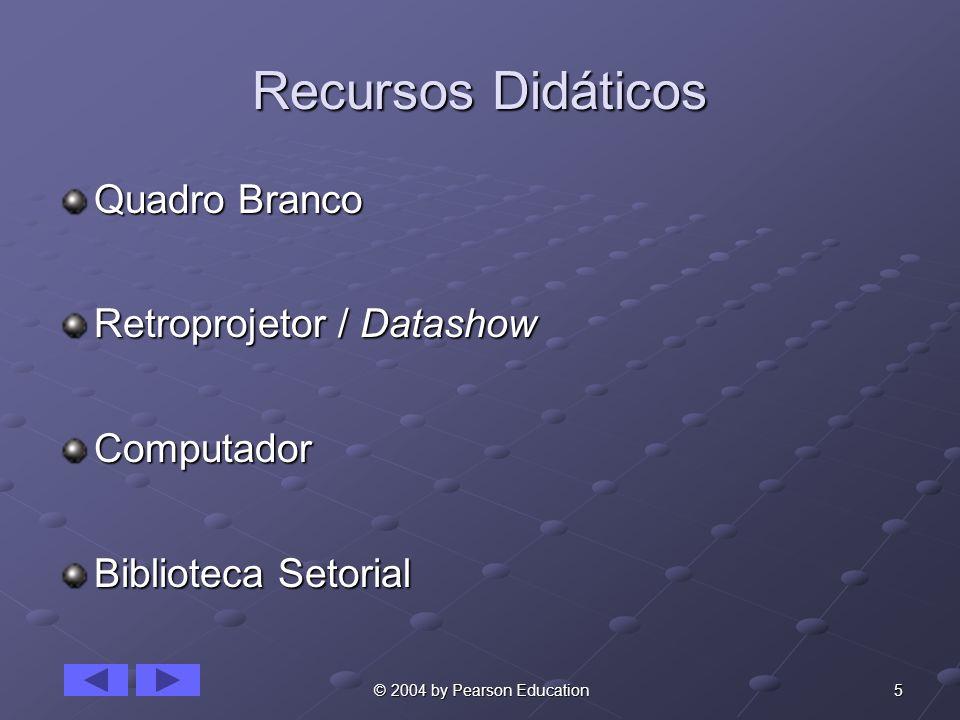 Recursos Didáticos Quadro Branco Retroprojetor / Datashow Computador