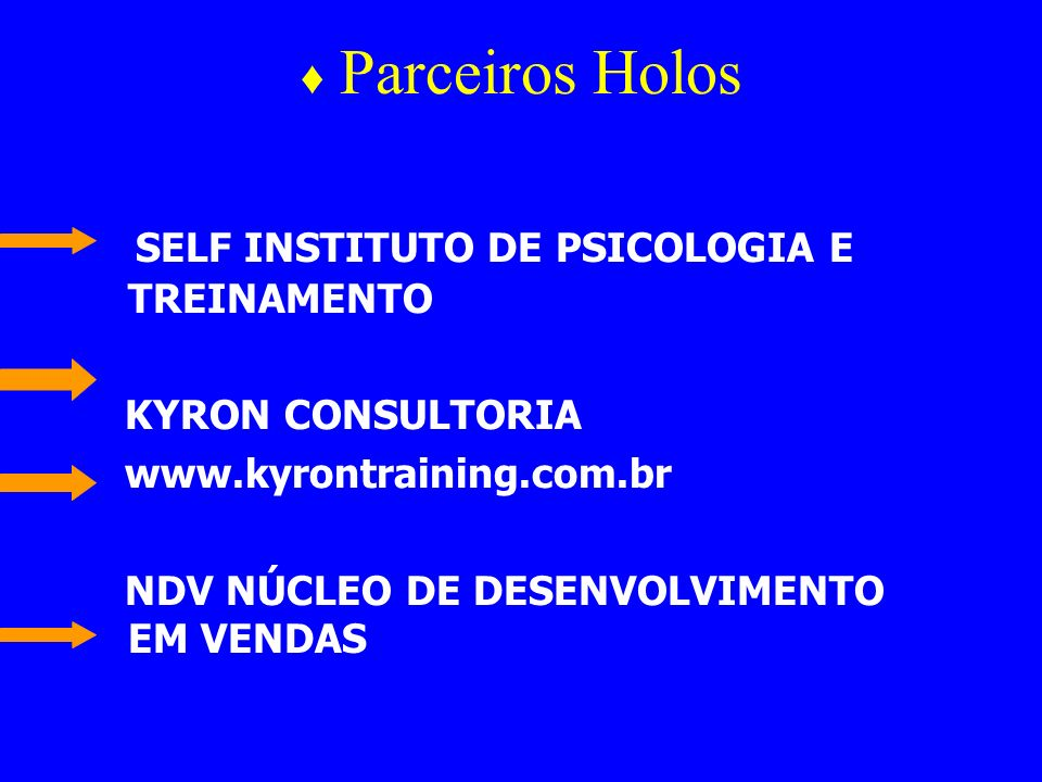 SELF INSTITUTO DE PSICOLOGIA E TREINAMENTO