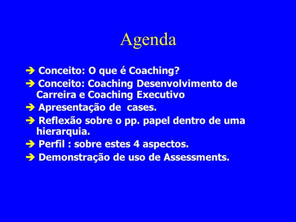 Agenda  Conceito: O que é Coaching