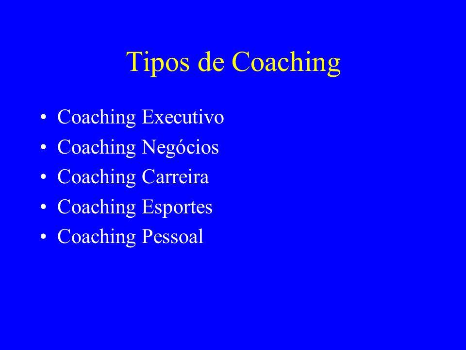 Tipos de Coaching Coaching Executivo Coaching Negócios