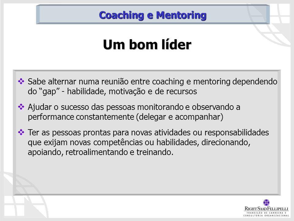 Um bom líder Coaching e Mentoring