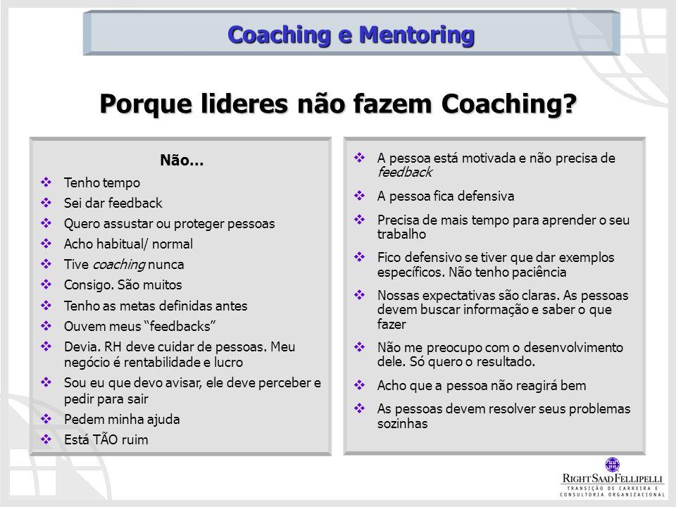 Porque lideres não fazem Coaching