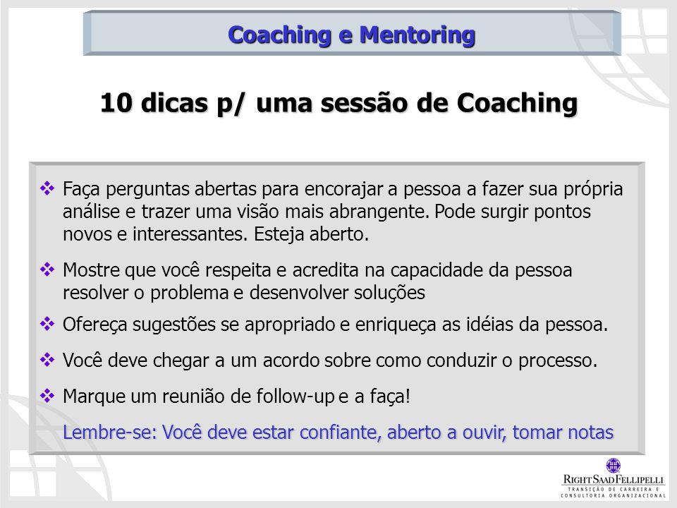 10 dicas p/ uma sessão de Coaching