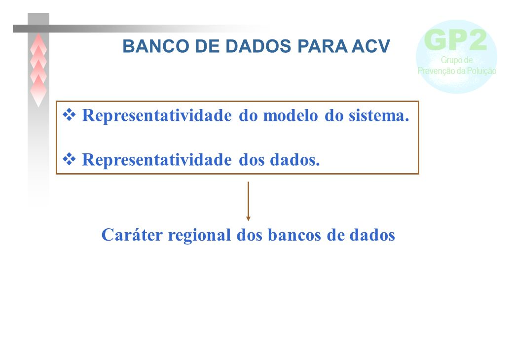 Caráter regional dos bancos de dados