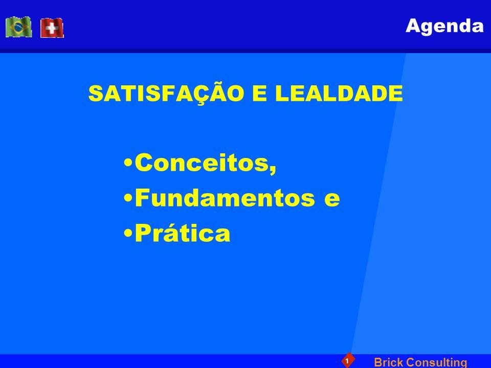 Agenda SATISFAÇÃO E LEALDADE Conceitos, Fundamentos e Prática
