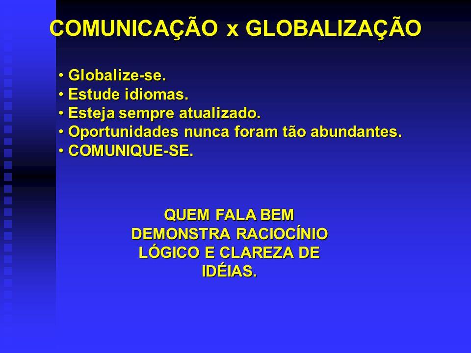 COMUNICAÇÃO x GLOBALIZAÇÃO