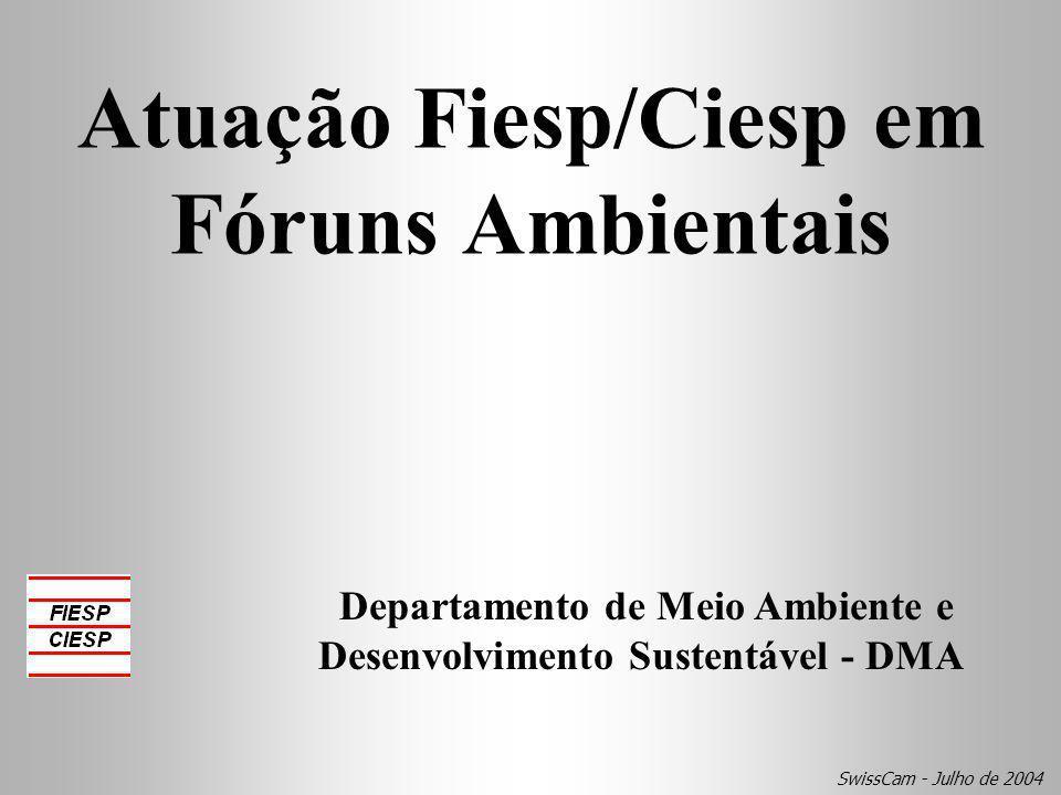 Atuação Fiesp/Ciesp em Fóruns Ambientais