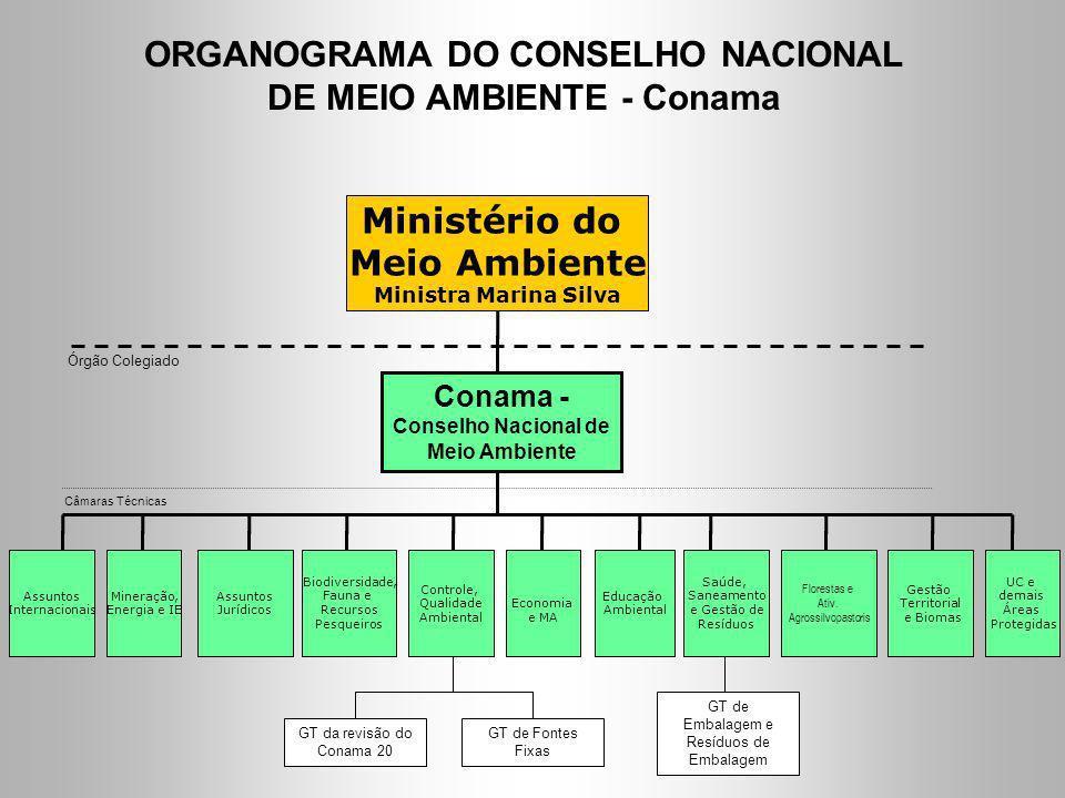 ORGANOGRAMA DO CONSELHO NACIONAL DE MEIO AMBIENTE - Conama