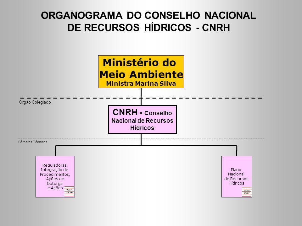 ORGANOGRAMA DO CONSELHO NACIONAL DE RECURSOS HÍDRICOS - CNRH