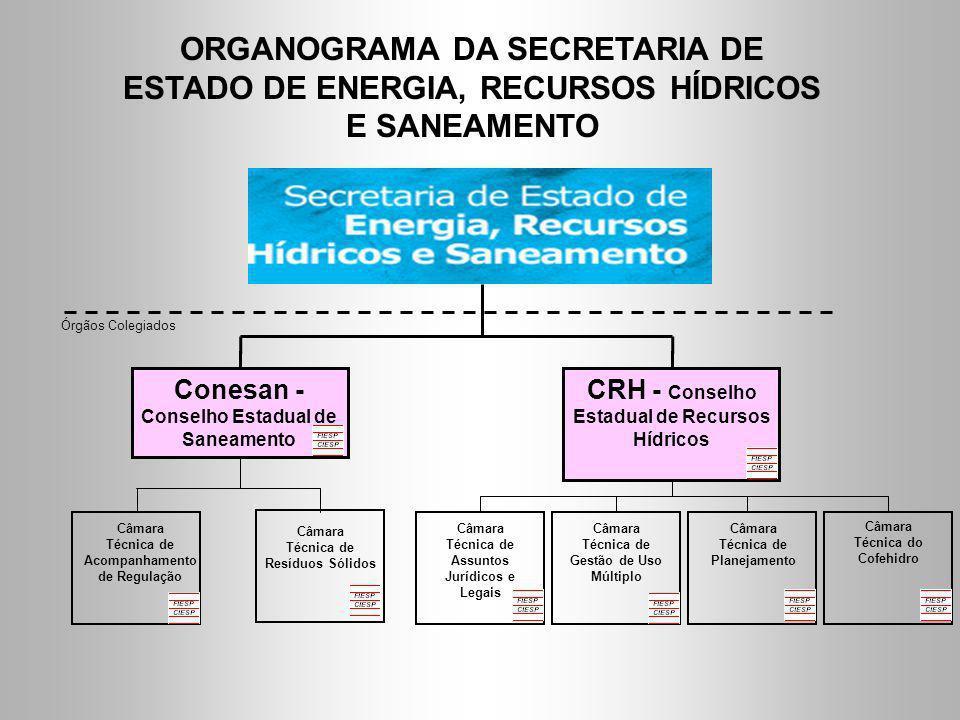 ORGANOGRAMA DA SECRETARIA DE ESTADO DE ENERGIA, RECURSOS HÍDRICOS E SANEAMENTO