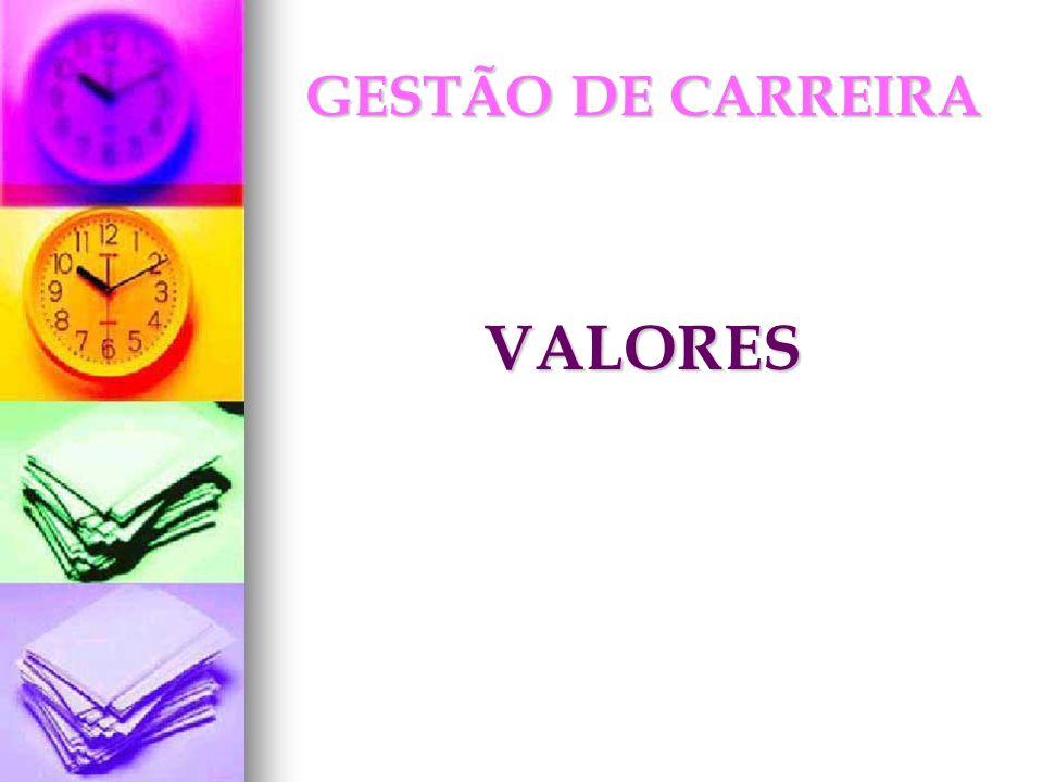 GESTÃO DE CARREIRA VALORES